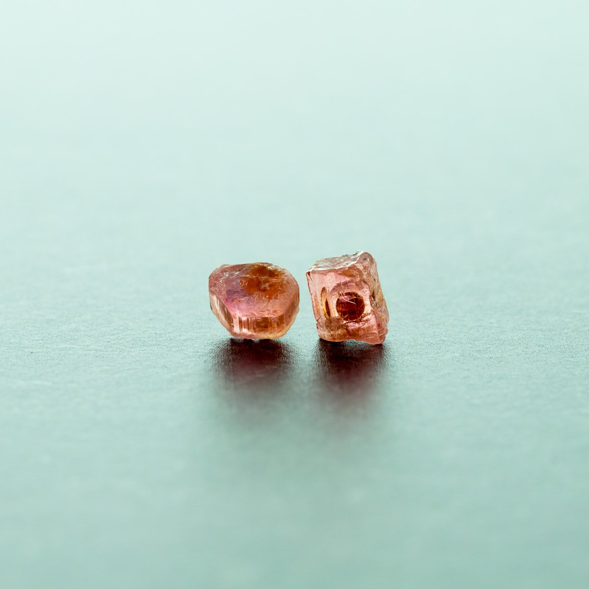 Raw Pink Tourmaline Earrings | Liz.Beth Jewelry Co.