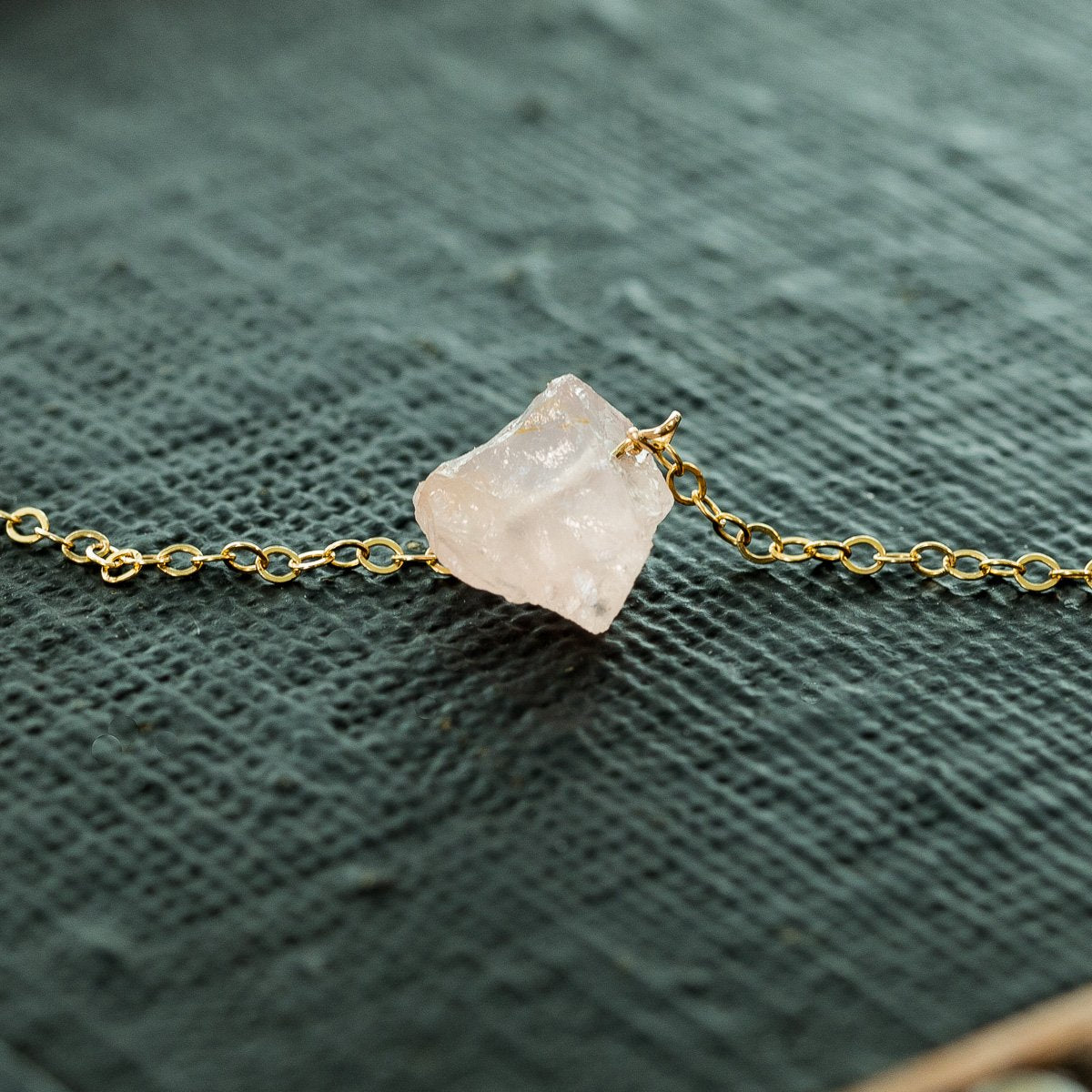 Raw Rose Quartz Necklace | Liz.Beth Jewelry Co.