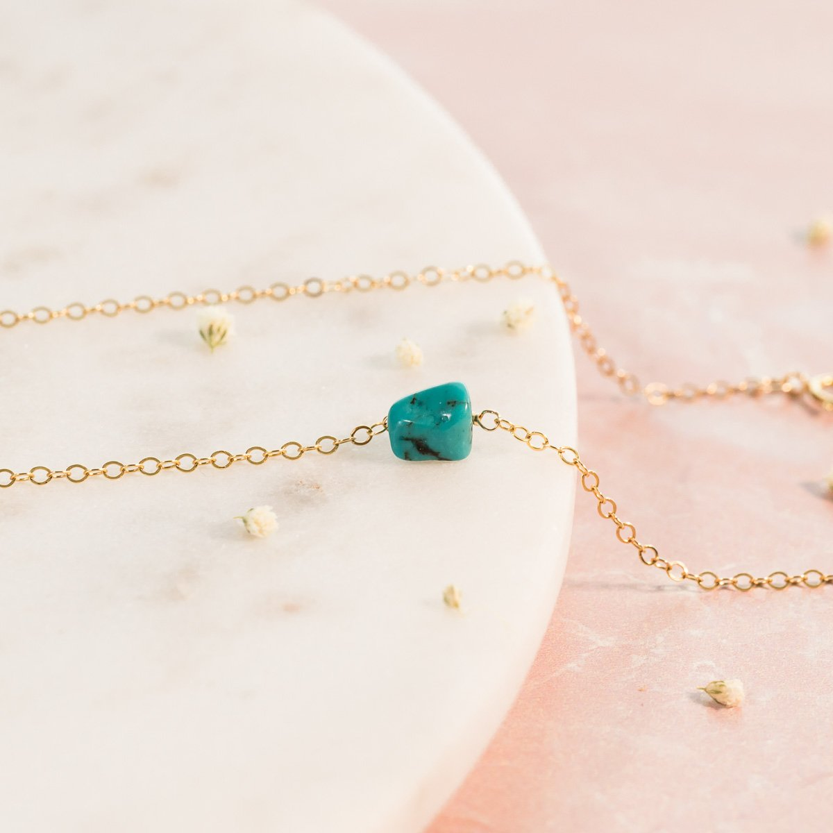 Raw Turquoise Necklace | Liz.Beth Jewelry Co.