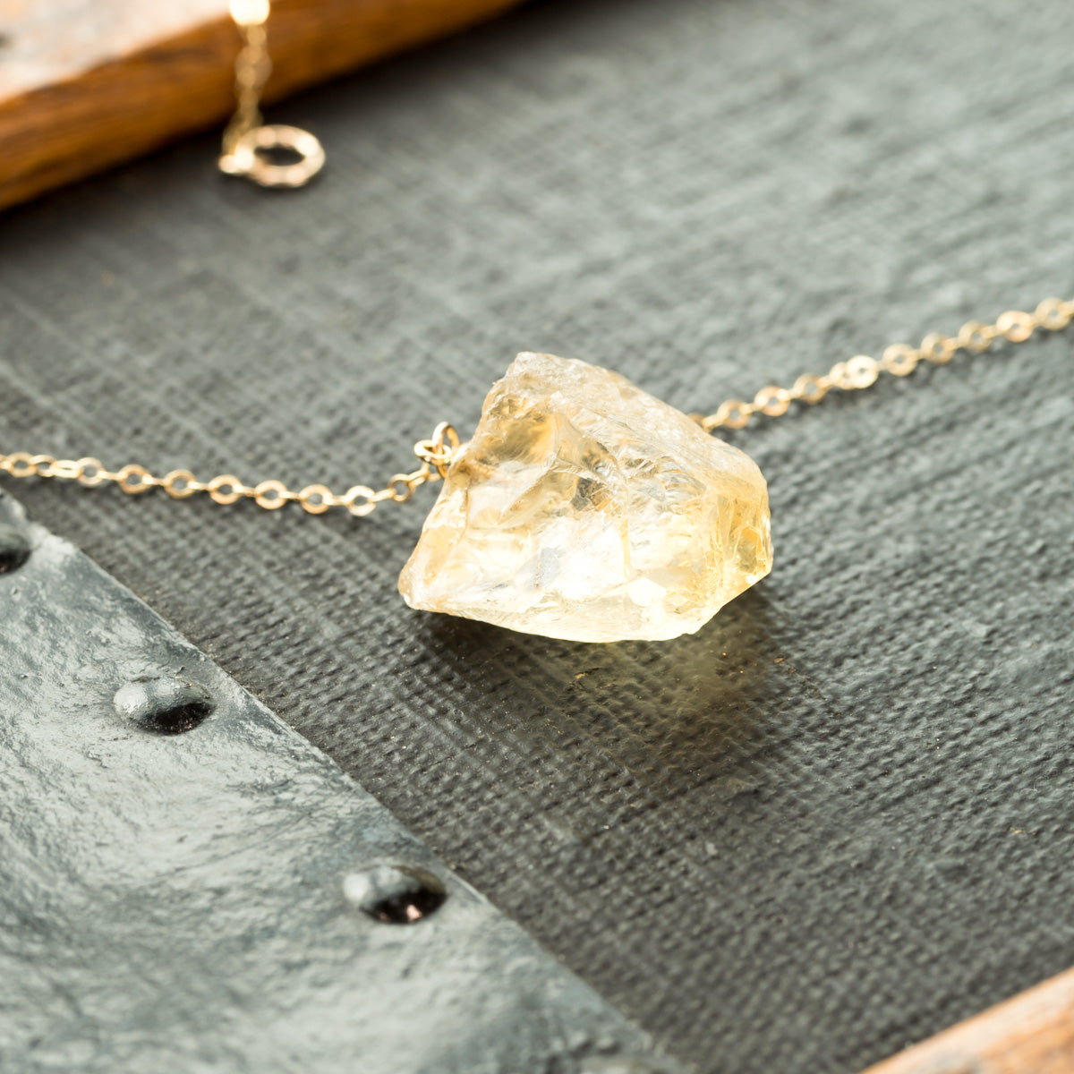Citrine Necklace, The Rayo de Sol Necklace, Raw Citrine Crystal Necklace, Citrine Chunk Necklace, Citrine Pendant, Gemstone Necklace, Liz.Beth Jewelry Co.