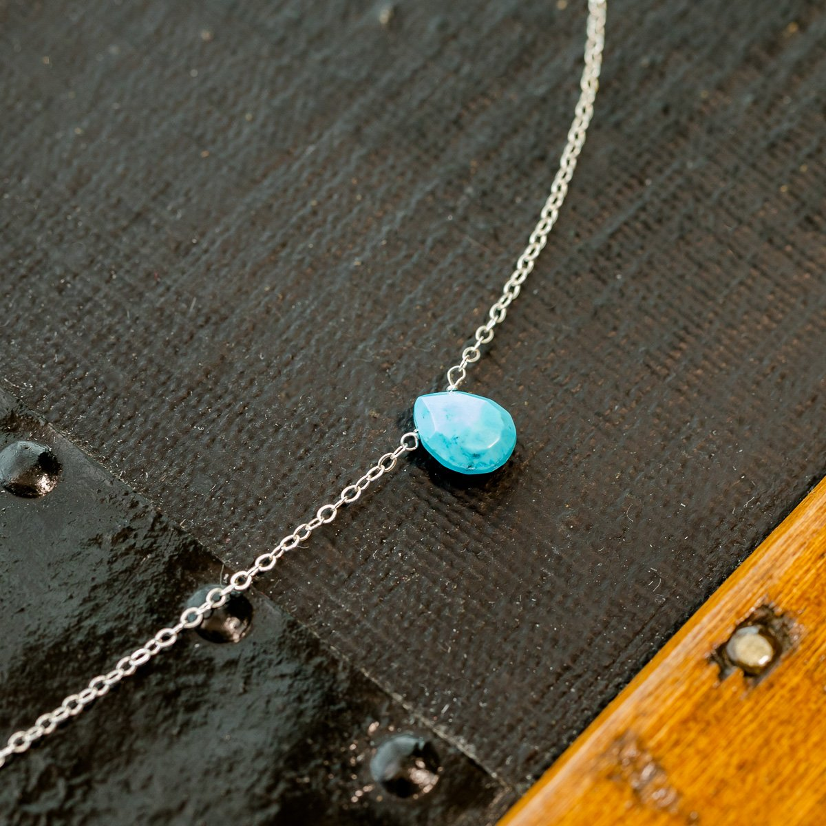 Kingman Turquoise December Birthstone Necklace Liz.Beth Jewelry Co.