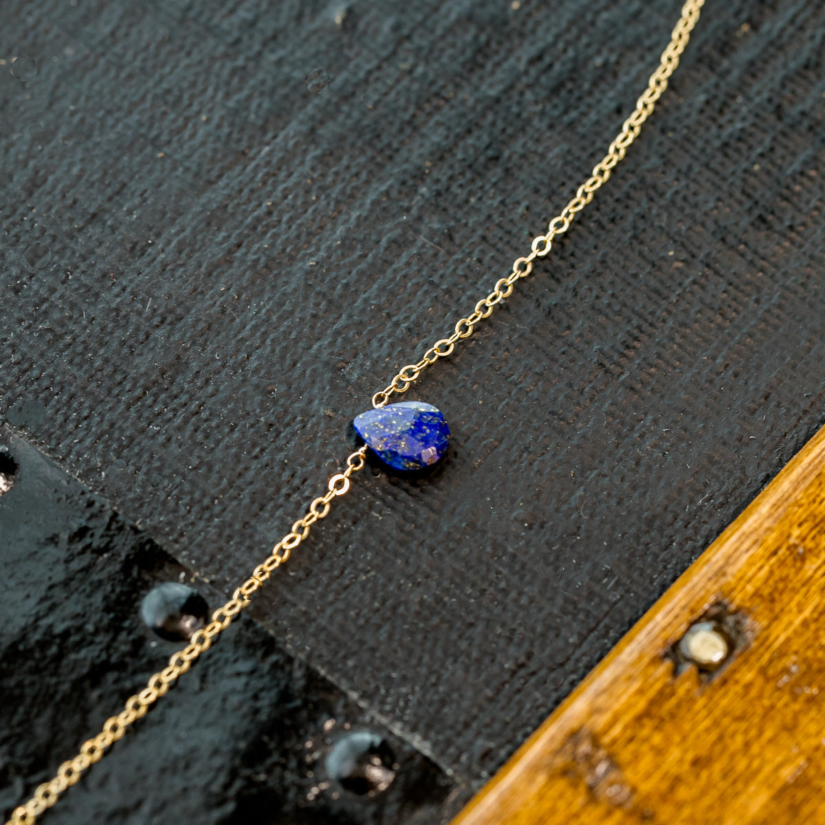 December Lapis Lazuli Birthstone Necklace Liz.Beth Jewelry Co.