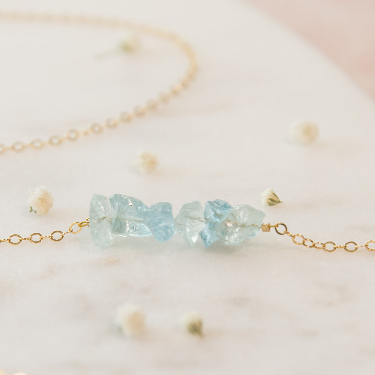 Raw Aquamarine Necklace, Raw Crystal Necklace, Raw Gemstone Necklace, Raw Crystal Jewelry, Aquamarine Necklace, Aquamarine Row Necklace,Something Blue, Something Blue For Wedding, Wedding Jewelry, Bridal Party Necklace, Dainty Necklace, Mermaid Necklace, Aquamarine Bar Necklace, Gemstone Necklace, Liz.Beth Jewelry Co.
