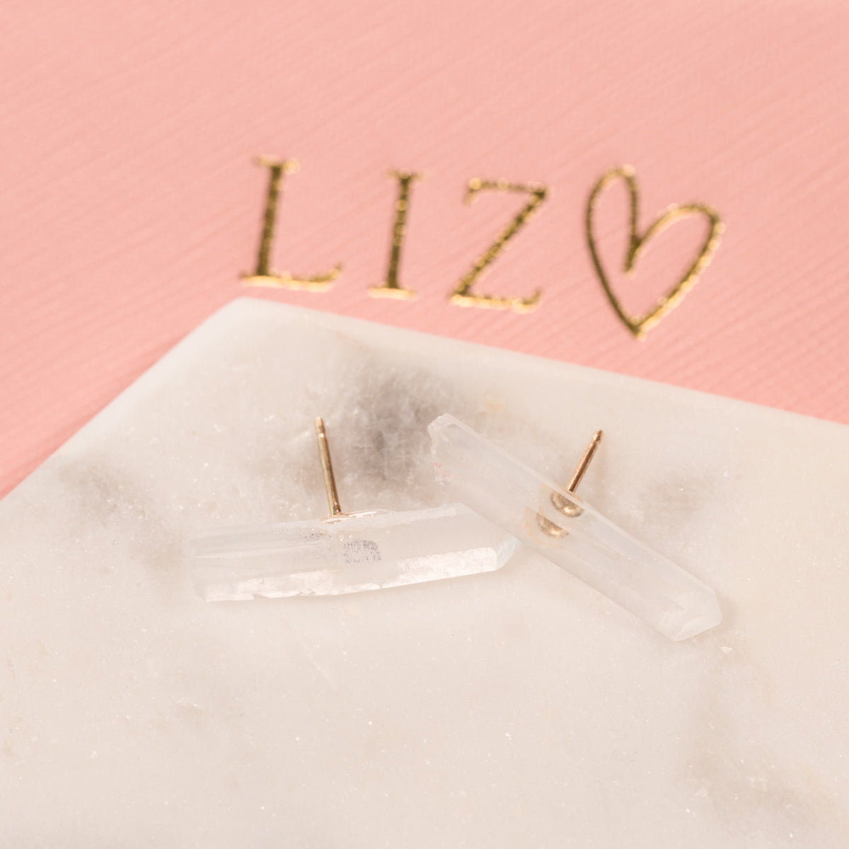 Quartz Bar Earrings