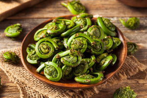 Fresh Cooked Fiddleheads