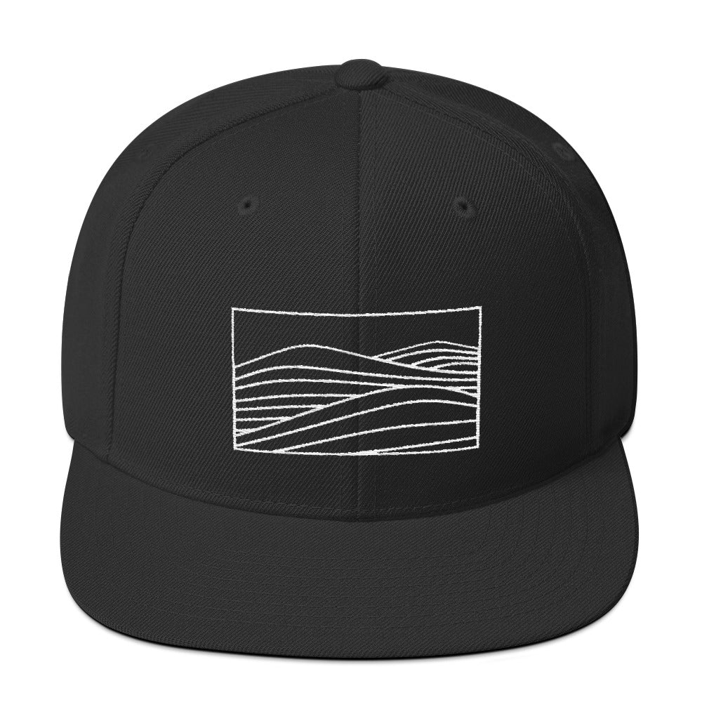 Embroidered Snapback Hat [black/grey]