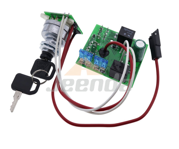 JEENDA Ignition Switch Module with Key AM124137 AM119999 Compatible with John Deere Garden Tractors 325 335 345 Serial #s Below 070