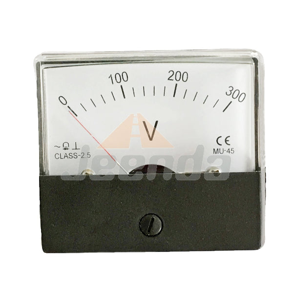 Panel Meter Voltmeter MU45 0-300V For Kipor Single Phase Diesel Generator Parts