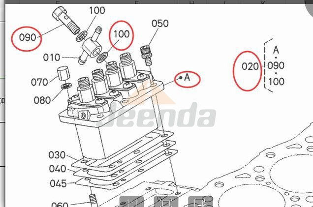 Injection Pump 16060-51013 for Kubota V1505