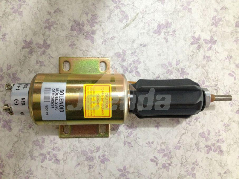 Stop Solenoid 2370 24V 589/91 2370-24E6U1B5S2AD 24V for Perkins 4000 Series Engine