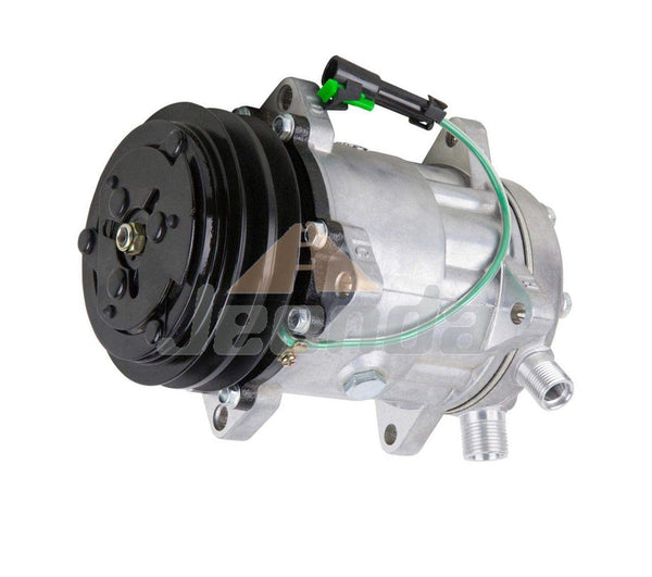 JEENDA New A/C Compressor 11007857 24V 132mm for Volvo VI Truck Wheel Loaders SD7H15 SD709 EC280 EC340 EC390 EL70C L120C
