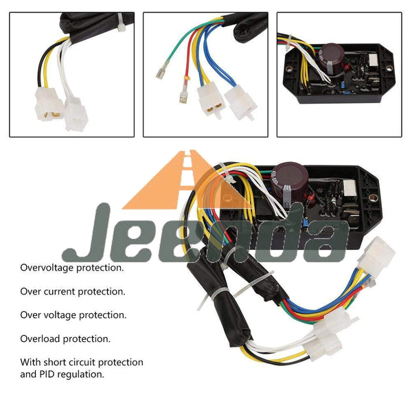 JEENDA Automatic Voltage Regulator AVR KI-DAVR-50S3 5KW for Kipor Yanmar 3 Phase Diesel Generator