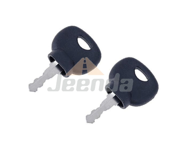 Jeenda Ignition Keys 14707 5755124 8035807 for Bobcat New Holland Industrial JCB Bomag Hamm Roller Compaction Dynapac Terex Vibromax Volvo Ford Moxy 85804675 05755125
