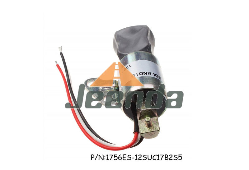 Stop Solenoid SA-4893 1756ES-12SUC17B2S5 12V with  3 Wiresfor for Woodward 1700 Serie 12V