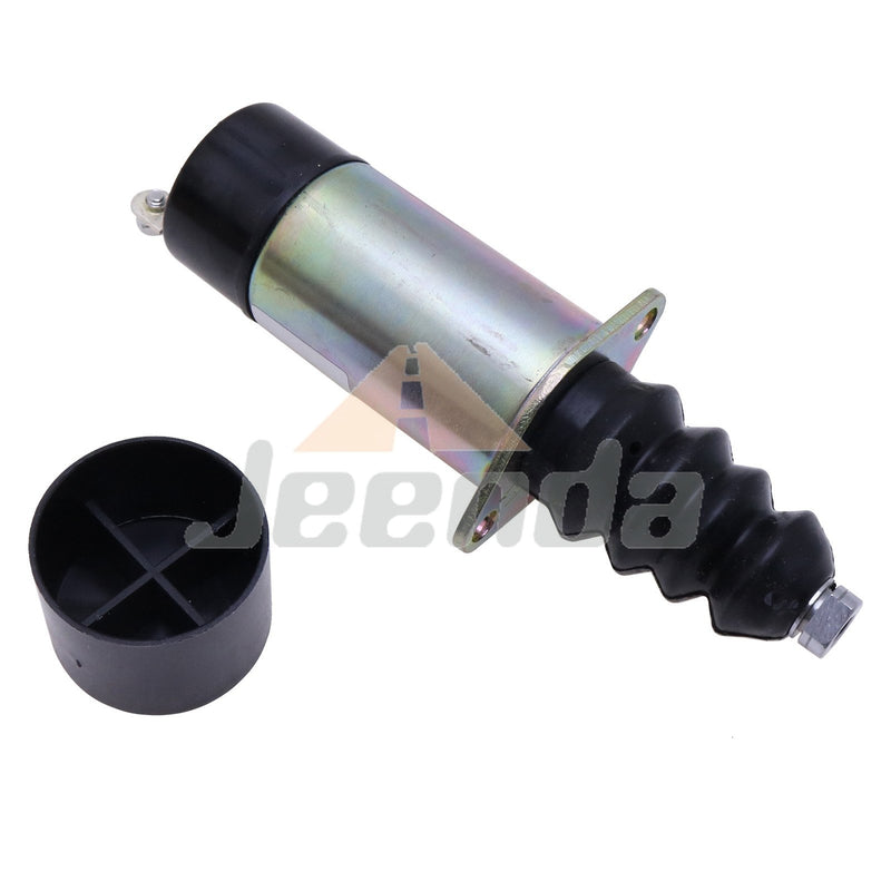 Jeenda Diesel Stop Solenoid SA-4826 1502-12D2U1B1S1 with 2 Terminals for Woodward 1500 Series 12V