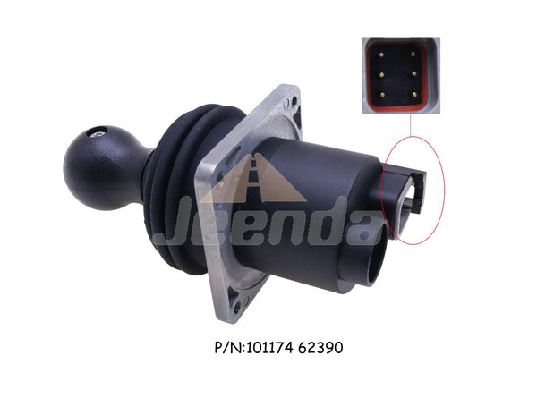 JEENDA Joystick Controller 101174 HJ8-2AC-H51-BA 62390 with 6 Pins for Genie Straight Booms Lifts S-45 S-60 S-45 S-60 S-65 S-80 S-85 S-100 Z-45 Z-25J IC Z-51 Z-30J Z-60 Z-34