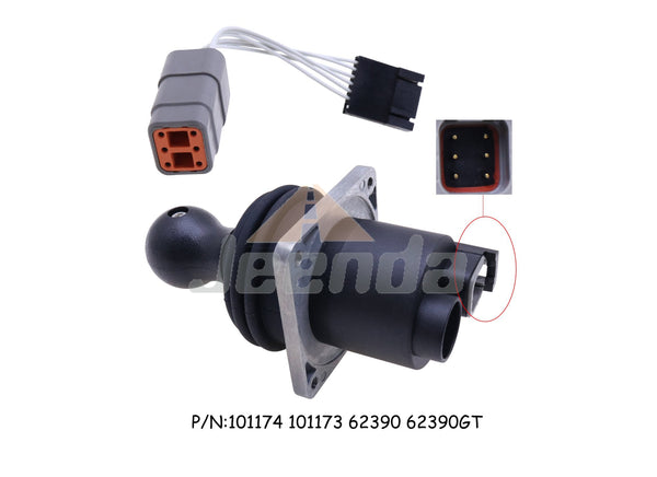 Free Shipping Dual Axis Joystick Controller JS100 62390 101174 101174GT with Harness Adapter 119613 119613GT 101005 for Genie S-45 S-60 S-65 S-80 S-85 S-100