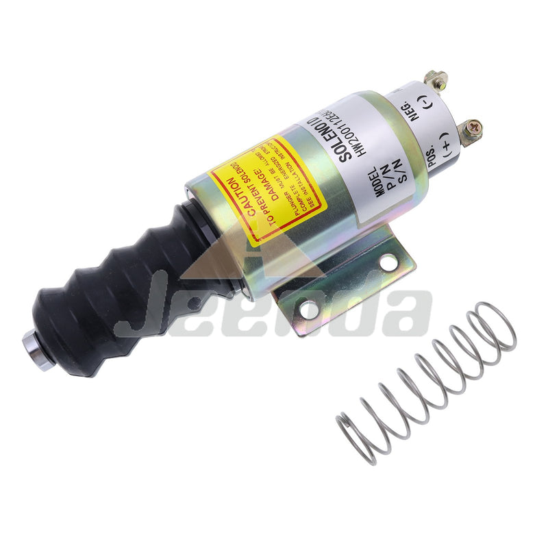 JEENDA Diesel Stop Solenoid SA-3069 2001-12E6U1B2A with 3 Terminals 12V for Woodward 2000 Series