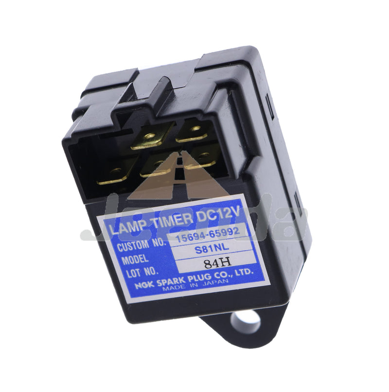 JEENDA NGK Lamp Timer 12V Time Relay for Kubota 15694-65992 15694-65990  S81NL SN1NL Time Relay