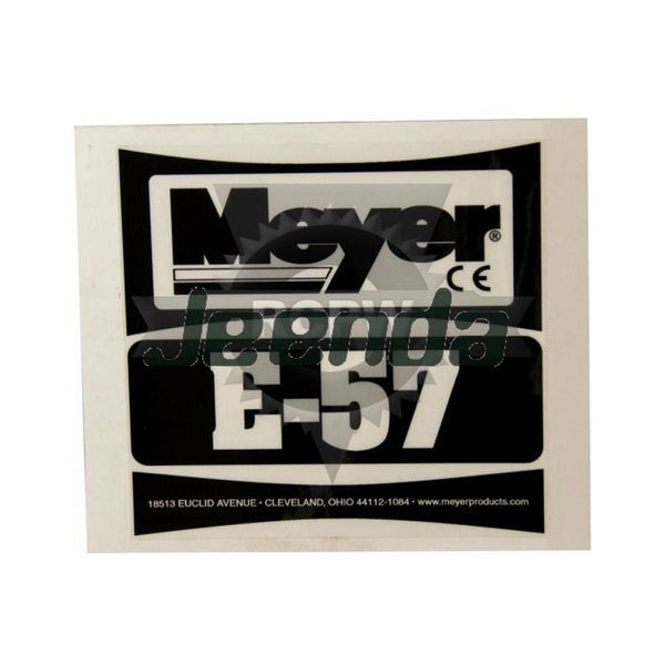 E-57 Pump Sticker/Decal 22357 for MEYER