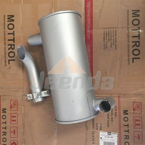 Jeenda Muffler 4190984 for Hitachi EX270LC EX220-1 EX270-1 EX220LC Engine H06CT