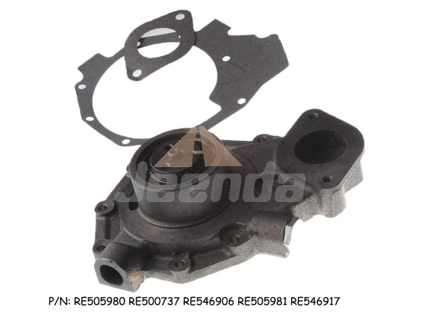 Jeenda Water Pump RE505980 RE500737 RE546906 RE505981 RE546917 with Gasket for John Deere 4045 TF HF120 TF220 310K 310SJ 310SK 315SJ 315SK 325J 325K 325SK 410G 410J 410K 710D 710G 710J