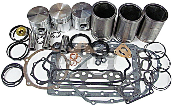JEENDA Overhaul Kit for Yanmar 3T80J Engine Rebuilt with concave piston