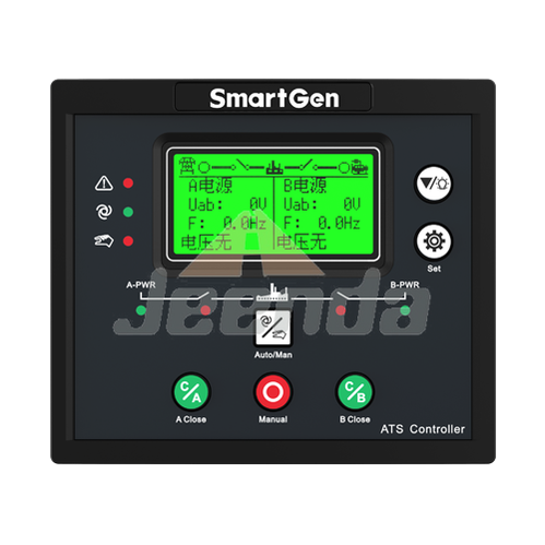 Free Shipping Dual Power ATS Controller for SmartGen HAT553 AC177-277V with Interface RS485