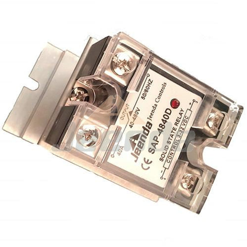 Solid State Relay SSR DC-AC 40A 3-32VDC/40-480VAC with Heatsink for Crydom D4840D