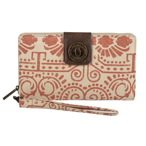 Amber Canvas Wristlet Cash System Wallet