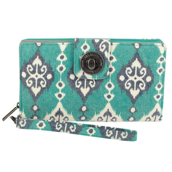 Lanai Canvas Wristlet Cash System Wallet