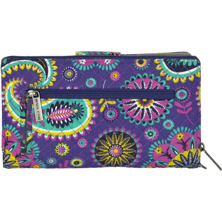Paisley Punch Wristlet Cash System Wallet