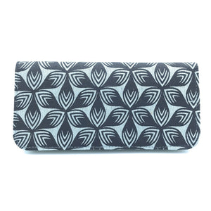 Gray Floral Long Wallet