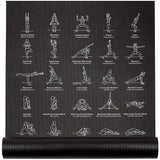 NewMe Yoga Mat w/ 70 Illustrated Poses