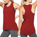 Cross Back Racerback Workout Top