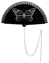 "Load image into Gallery viewer, Fan ""Black Papillon"""