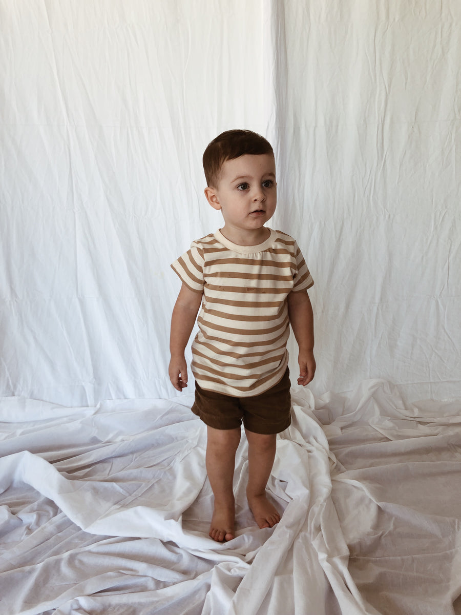 Baby Terry Tee - Organic Cotton Stripe