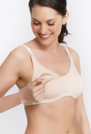 Cotton Blend Wireless Nursing Bra - Style 361