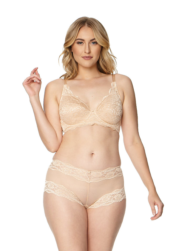 """Kelly"" Lace and Mesh Boyleg Panty (5554QTP)"