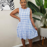 Cool Girl Plaid Mini (Blue)
