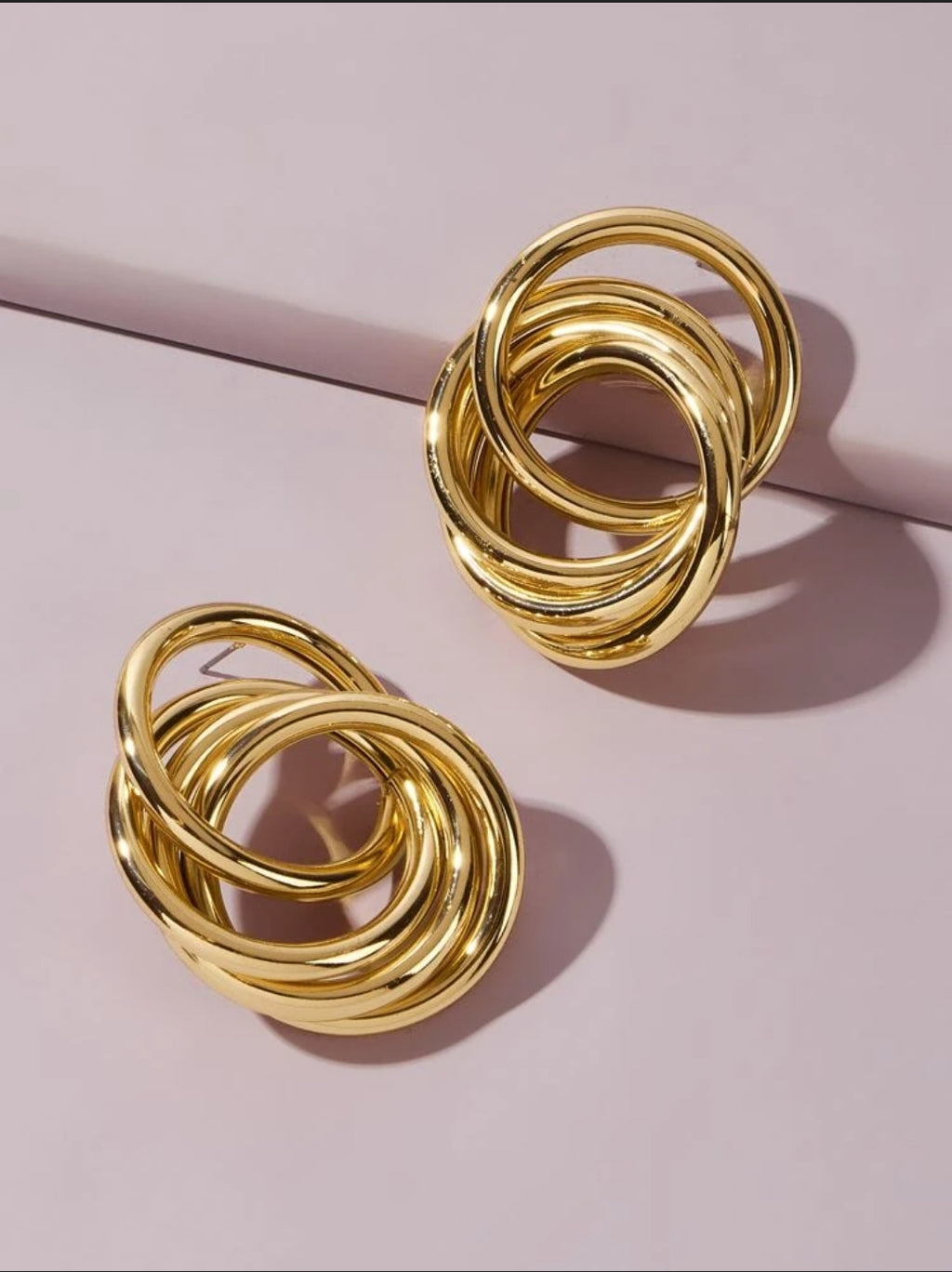 Round Link Drop Earrings