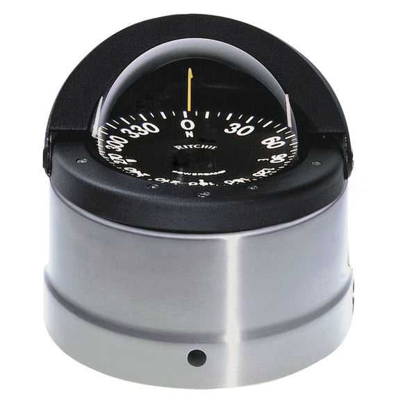 Ritchie DNP-200 Navigator Compass - Binnacle Mount - Polished Stainless Steel-Black [DNP-200]