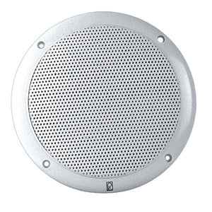 "Poly-Planar 6"" 2-Way Coax-Integral Grill Marine Speaker - (Pair) White [MA4056W]"