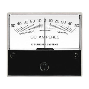 "Blue Sea 8252 DC Zero Center Analog Ammeter - 2-3/4"" Face, 50-0-50 Amperes DC [8252]"