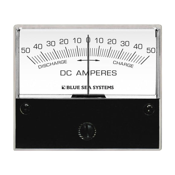 Blue Sea 8252 DC Zero Center Analog Ammeter - 2-3/4