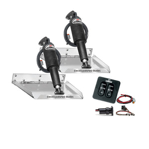 "Lenco 16"" x 12"" Standard Performance Trim Tab Kit w/Standard Tactile Switch Kit 12V [RT16X12]"