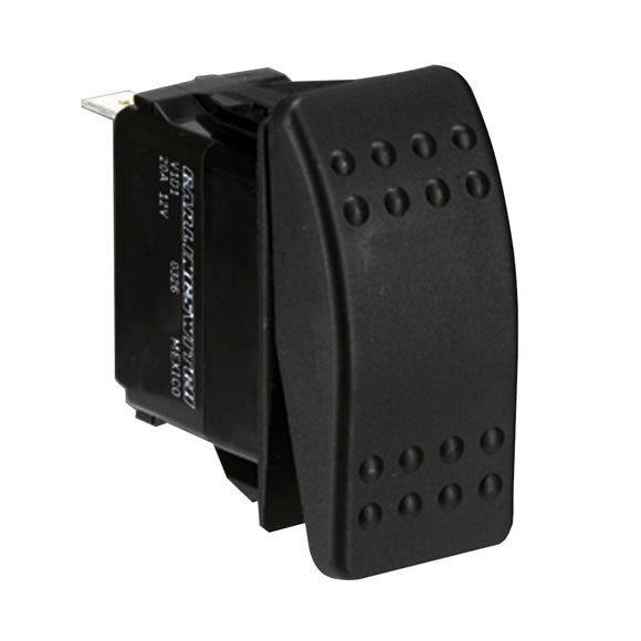 Paneltronics DPDT (ON)/OFF/(ON) Waterproof Contura Rocker Switch - Momentary Configuration [001-453]