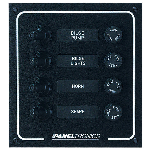 Paneltronics Waterproof DC 4 Position Booted Toggle & Fuse [9960005B]