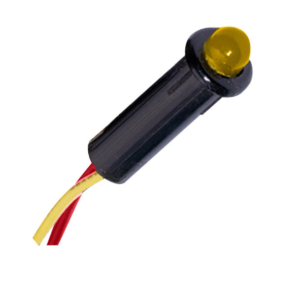 Paneltronics LED Indicator Light - Amber - 24 VDC - 1/4