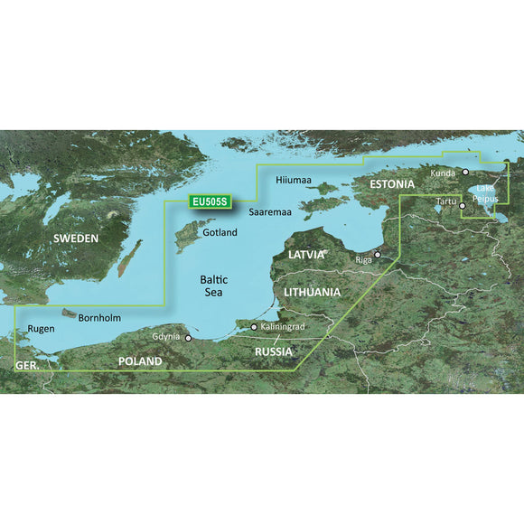 Garmin BlueChart g3 Vision HD - VEU505S - Baltic Sea, East Coast - microSD/SD [010-C0849-00]